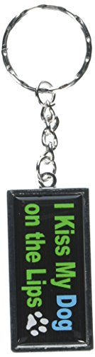 Graphics and More I Kiss My Dog On The Lips Keychain Ring...