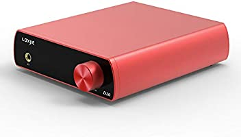 LOXJIE D20 Audio DAC Desktop Digital to Analog Converter /& Headphone Amplifier Chip AK4497 Support 32bit//768kHz DSD512 OLED Display Red
