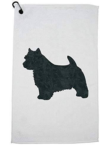 (Hollywood Thread Norwich Terrier Dog Golf Towel with Carabiner Clip)