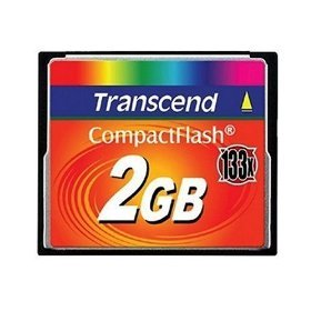 Transcend 2 GB 133x CompactFlash Memory Card TS2GCF133 by Transcend