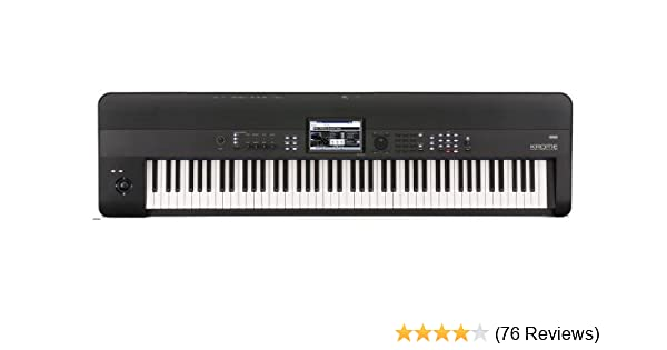 Amazon com: Korg KROME 88-Key Music Workstation Keyboard
