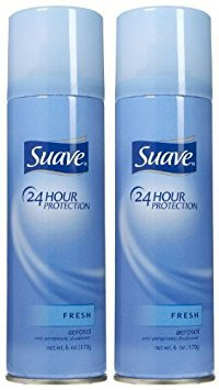 - Suave 24 Hour Protection Anti-Perspirant Deodorant Spray Fresh 6 oz ( Pack of 2)