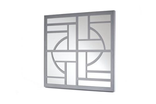 Mariano Metal Decor WA-1010-M-SIL Art Deco Silver Platinum Metal Mirror/Wall Decor Art by Mariano Metal Dcor