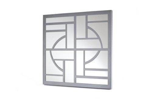 Mariano Metal Decor WA-1010-M-SIL Art Deco Silver Platinum Metal Mirror/Wall Decor Art by Mariano Metal Dcor