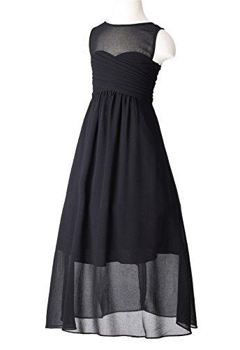 HAPPY Mädchen A Linie ROSE Schwarz Kleid BnvSq1xn