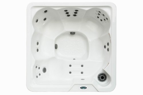 Aston 6-Person Hot Tub, 76.5 x 76.5 x 34, 30 Jets, White