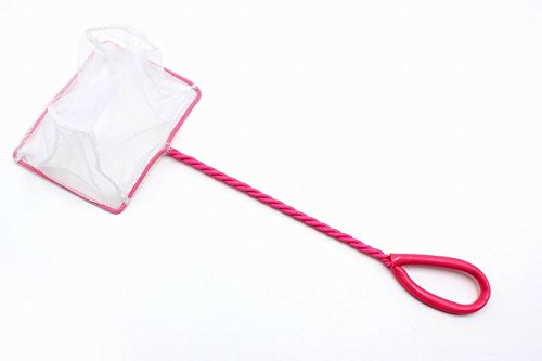 - cOkO NEW 5-Inch Aquarium Fish Net Nylon Supplies Cleaner (PINK)