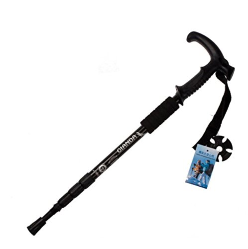 South Beach Full Cushion (Ultra-light Trekking Pole Protector 4-Section Adjustable Telescopic Hiking Walking Stick (black))