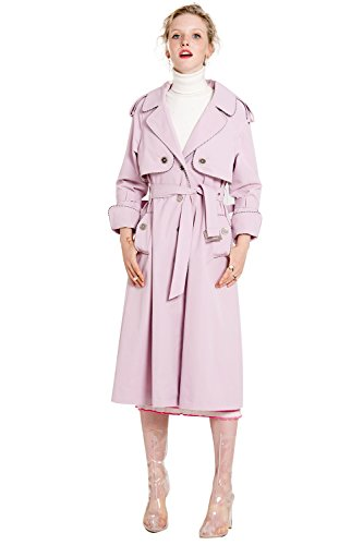 YIGELILA British Style Long Coat with Belt by YIGELILA