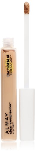 Almay Clear Complexion Oil-Free Concealer, Light/Medium [200], 0.18 oz ( Pack of 2) Almay Clear Complexion Powder