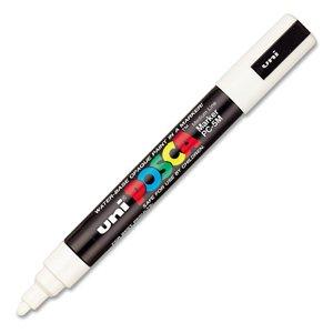 Uni-posca Paint Marker Pen, White, 1-Count