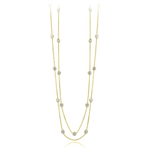 Willow Gold Pauline CZ By the Yard 14K Yellow Gold Necklace (Length 60 Inches)