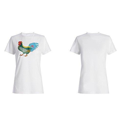 Arte Divertido Loco Del Pollo camiseta de las mujeres o213f