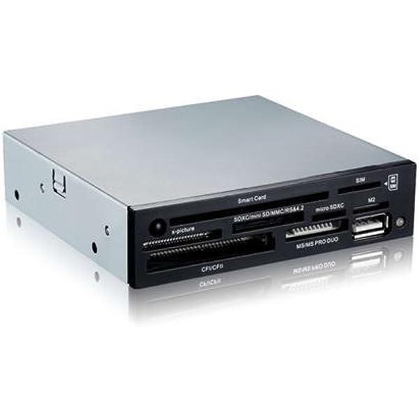 Tooq TQR-202B - Lector Interno de Tarjetas de Memoria y DNI electrónico (DNIe, SIM, CF, MS, SD, SDHC, microSDHC, X-Memory, TF (Micro SD) y M2), 3.5