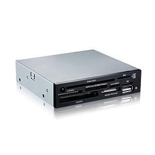 """TooQ TQR-202B - Lector interno de tarjetas de memoria y DNI electrónico (DNIe, SIM, CF, MS, SD, SDHC, microSDHC, X-Memory, TF (Micro SD) y M2), 3.5"""", USB 2.0, color negro, chasis metalico, 480Mbps."""