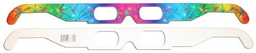 3D Fireworks Glasses w Rainbow Frames - Pattern Diffraction Lenses- Pack of 30, Model: , Electronic Store