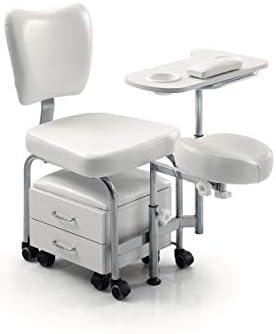 ZStyle - Sillón de podología para pedicura, tratamientos de estética, masajes de pies, manicura Bianco: Amazon.es: Belleza