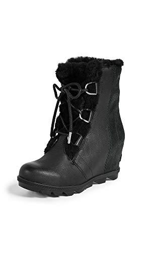 SOREL Women's Joan of Arctic Wedge II Shearling Boots, Black, 9.5 M US ()