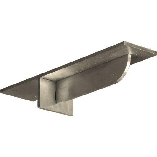 Ekena Millwork BKTM03X12X02HESS 3-Inch W x 12-Inch D x 2-Inch H Heaton Hidden Support Bracket with 8-Inch Support Depth, Stainless Steel by Ekena Millwork [並行輸入品] B018A2WHQO