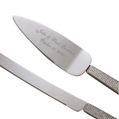 Glitter Galore Personalizedウェディングケーキサーバー、ナイフ、ケーキナイフとサーバー各メジャー12 3 / 4