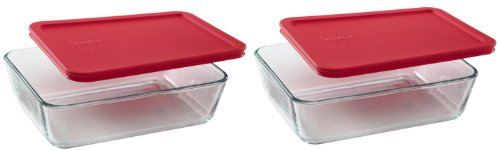 2 cup rectangular storage glass - 6