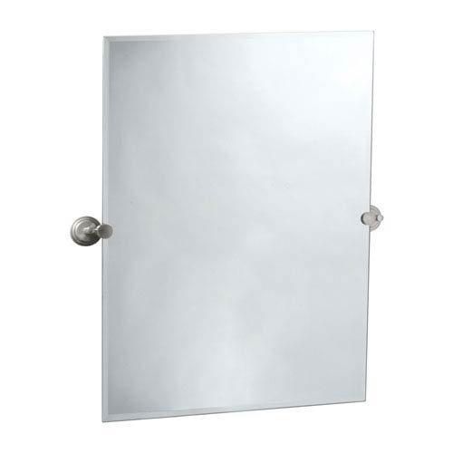 Gatco 5859S Marina Rectangular Wall Mirror, Satin Nickel