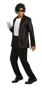 Rubie's Costume Black Sequin Billy Jean Jacket, Small, Small