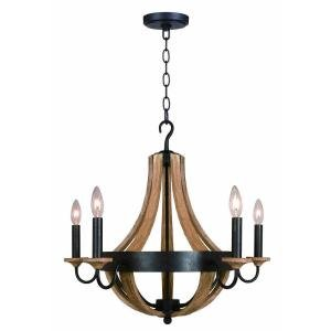Hampton Bay Talo 5-Light 83-1/4 in. Driftwood Chandelier