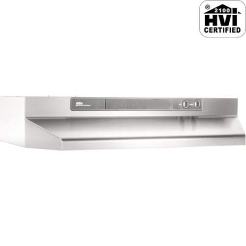 Broan 462404 Under-Cabinet Range Hood with Infinitely Adjustable Speed Control, 24-Inch, Stainless Steel (24 Inch Non Ducted Range Hood compare prices)
