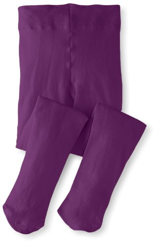 Jefferies Socks Big Girls'  Pima Cotton Tights, Purple, 8-10 Years