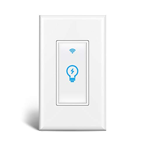 Smart Switch, Homeyard Smart Light Switch In-Wall Phone WiFi Remote Control Wireless Switch No Hub Required, Compatible with Alexa and Google Assistant (1 pack)