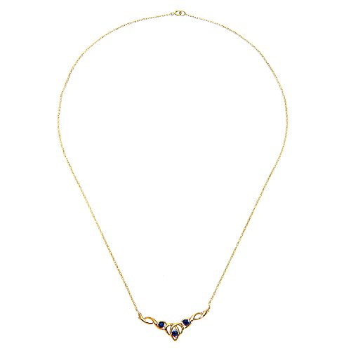 Citerna - Collier Femme PNE1846Y SA - Or Jaune 375/1000 (9 Cts) 1.8 Gr - Saphir
