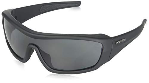 (Bobster Enforcer Oversized Sunglasses, Black Frame/Smoke, Clear, Amber Lenses)