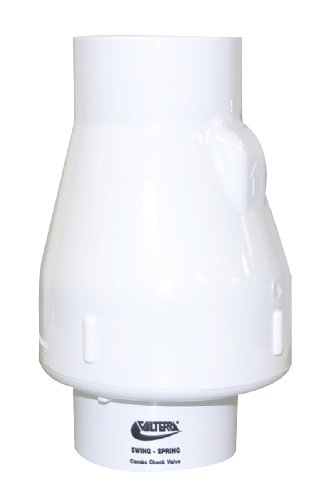 - Valterra 200-20 PVC Swing/Spring Combination Check Valve, White, 2