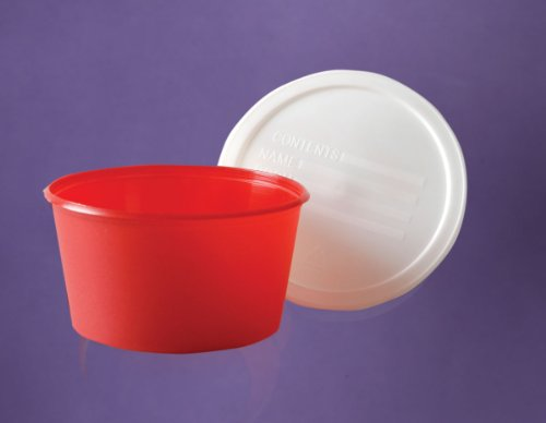 Medline DYND30510 Stool Specimen Containers with Lid, Plastic, Sterile, Latex Free, 8 Ounce Capacity (Pack of ()