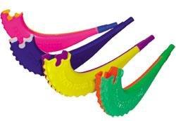 Plastic Toy Shofar Assorted Colors - 1 Shofer