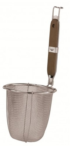 Paderno World Cuisine Noodle Strainer with Stainless Steel Mesh and Wood Handle - Paderno World Cuisine Mesh