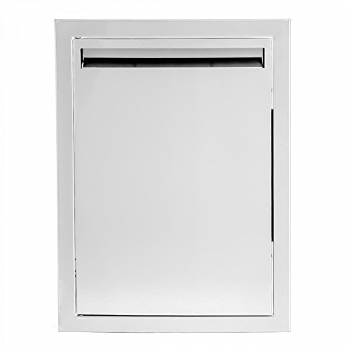 BBQGUYS Aspen Series 14-Inch Stainless Steel Left-Hinged Single Access Door - Vertical