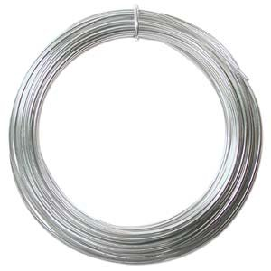 minum Wire 12 Gauge 39' Coil-Silver (Aluminum Bead Jewelry)