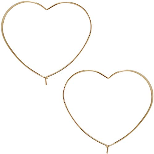 Threader Hoop Earrings for Women - Hypoallergenic Lightweight Thin Wire Dainty Drop Dangles in Heart, Geometric Octagon, Square - Plated in 925 Sterling Silver or 18k Gold, by Humble Chic NY