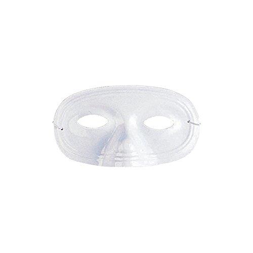 Fun Express - DIY Plastic White Half Masks (2dz) for Mardi Gras - Craft Kits - DYO - General - Misc DYO - General - Mardi Gras - 24 Pieces ()