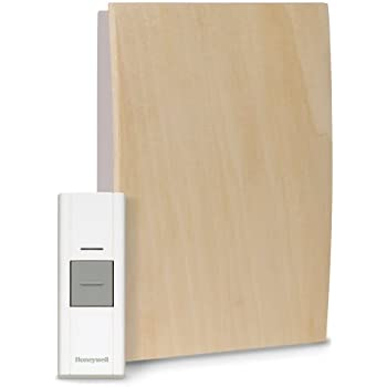 Honeywell RCWL3505A1005/N Decor Customizable Wood Wireless Doorbell / Door Chime and Push Button