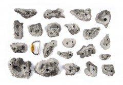 Enchufes de escalada Osmose–Talla M–Serie Rocky, negro BPS38
