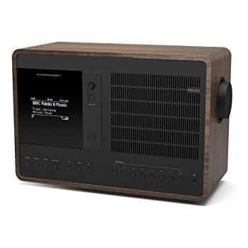 Revo SuperConnect Multi Format Deluxe Table Radio - Walnut/Black