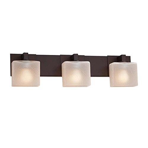 Justice Design Group Lighting FSN-8923-55-MROR-DBRZ-LED3-2100 Modular 3 Rectangle Shade LED Light Bath Bar Dark Bronze