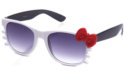 Kyra Women's High Fashion Two Tone Hello Kitty Bow Sunglasses 20% OFF 4 Pairs or - Sunglasses Kitty Hello