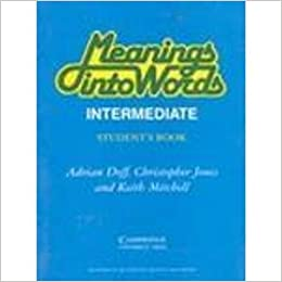 Buy Meaning into Words: Intermediate: Students Book