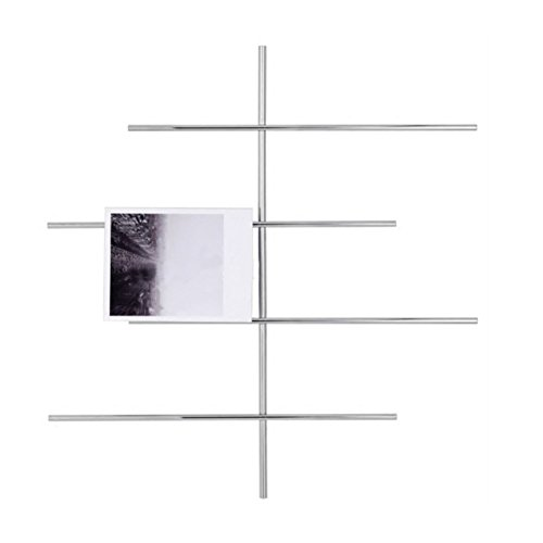 GX&XD Modern Simple Magazine Wall Rack for Living Room Restaurant Wall Hanging Bookshelf Newspaper Rack Wall Mounted Hanging Basket Wall Decoration Newspaper Frame Sorting Rack-B 84x80x7cm(33x31x3) by GX&XD (Image #1)
