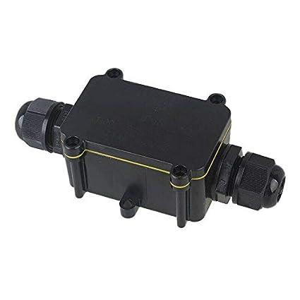 noir BE-TOOL IP68 Bo/îte de d/érivation /électrique /étanche Connecteurs pour /éclairage ext/érieur Noir