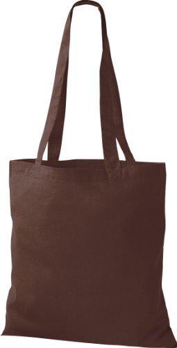 ShirtInStyle Premium Bolsa de tela Bolsa de algodón Bolsa Comprador Bolso de bandolera de muchos colores Chocolate